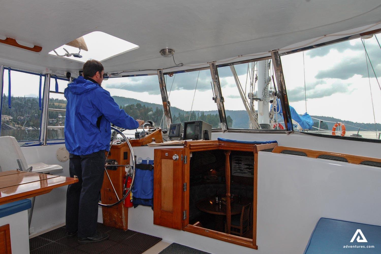 Captain of a sailing boat
