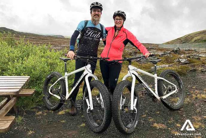 Couple on a Fat Bike Tour