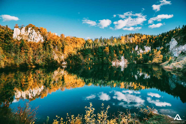 Colorful Trees around the lake Nova Scotia