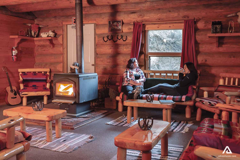 Lodge cabin interior coziness