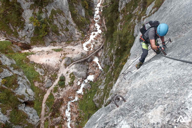 Woman mountaineering