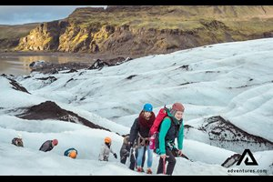 guided glacier walk solheimajokull