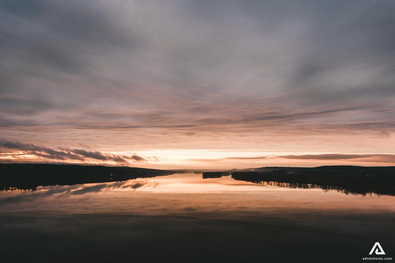New Brunswick Lake in Canada