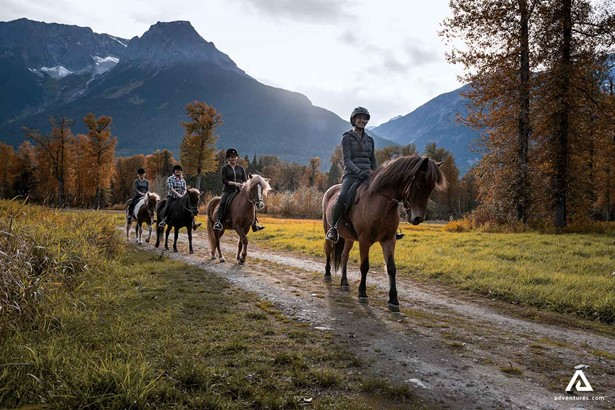 Horse riding tour in mountains