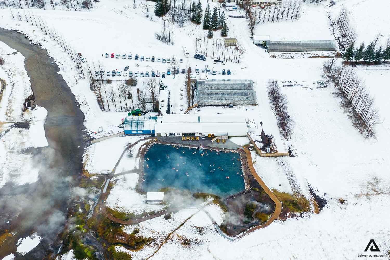 The Secret Lagoon aerial view