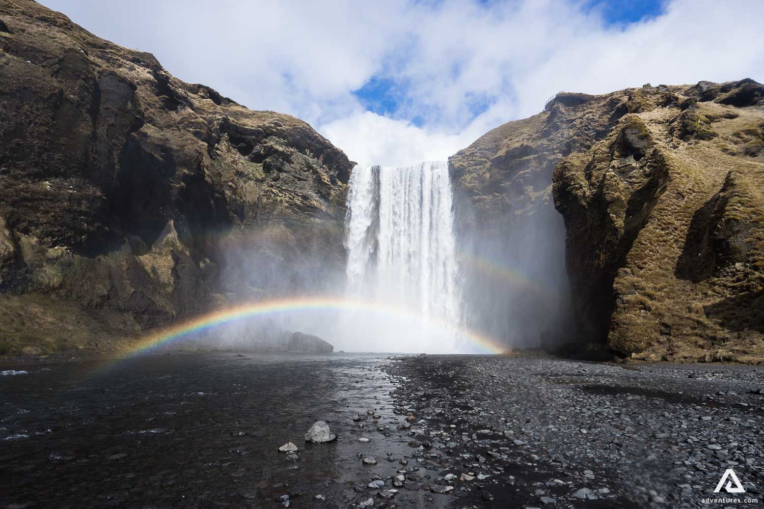 Skogafoss Waterfall on the South Coast of Iceland