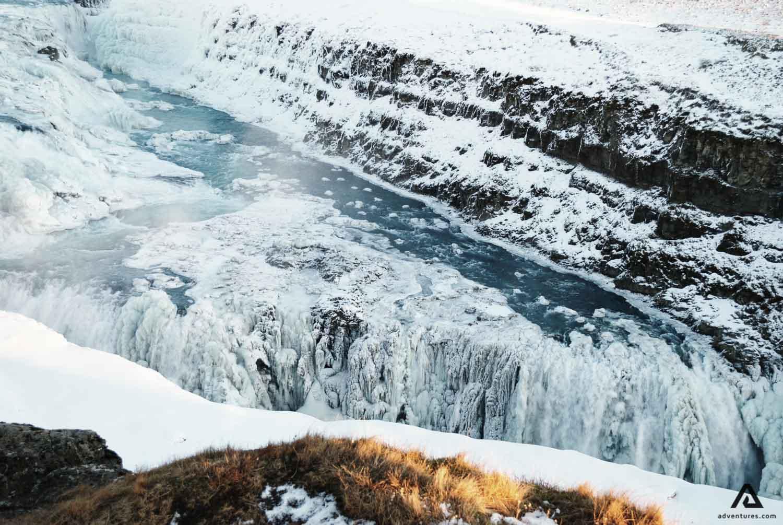 Gullfoss Waterfall scenery