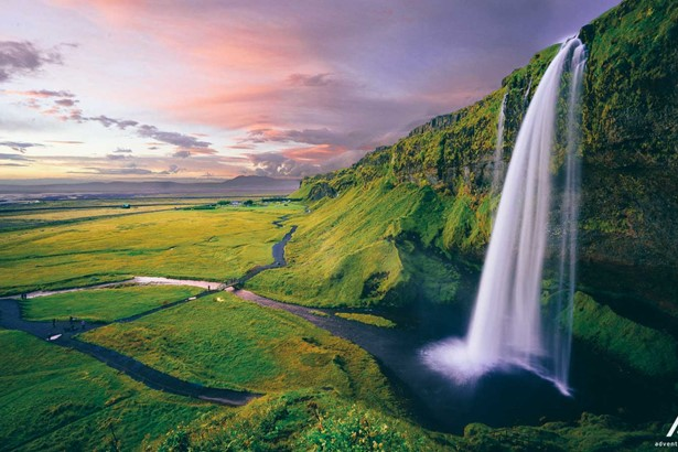 Seljalandsfoss Waterfall in South-Iceland