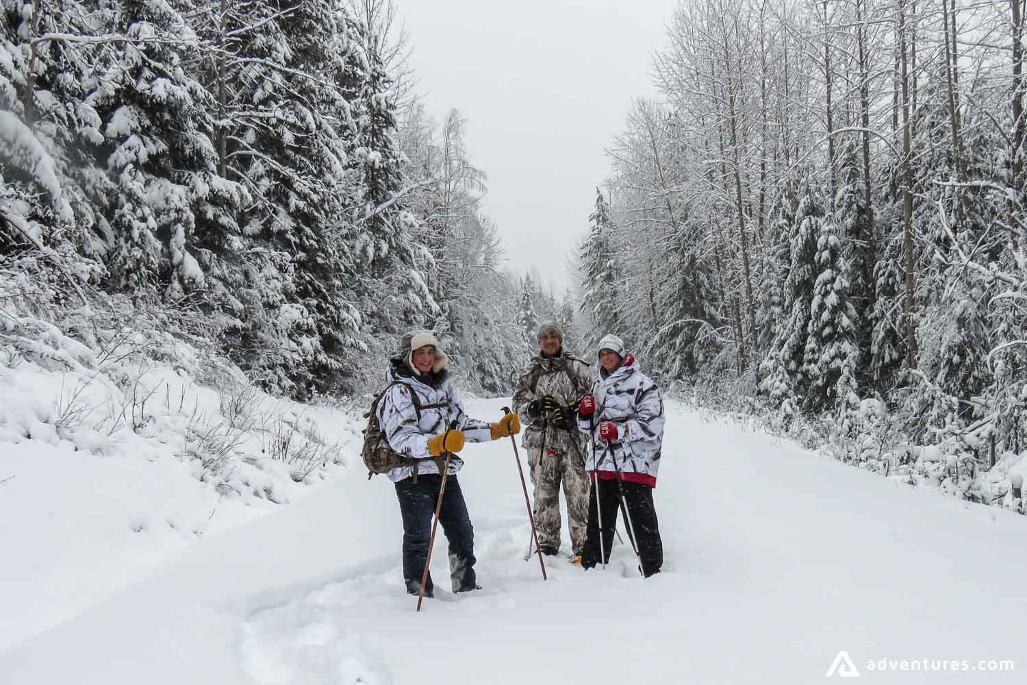 Winter expedition in Canada
