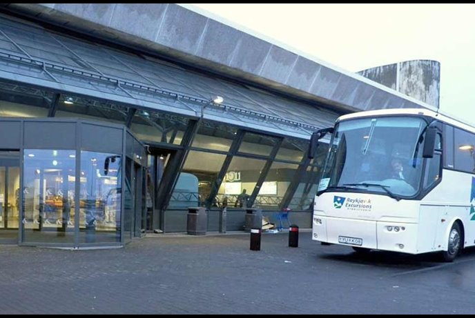 reykjavik airport shuttle bus in iceland
