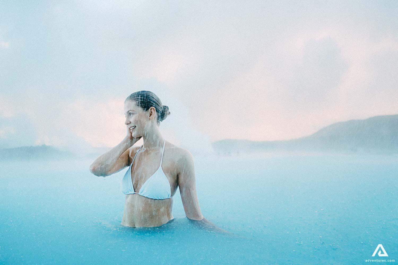 Woman in Blue Lagoon