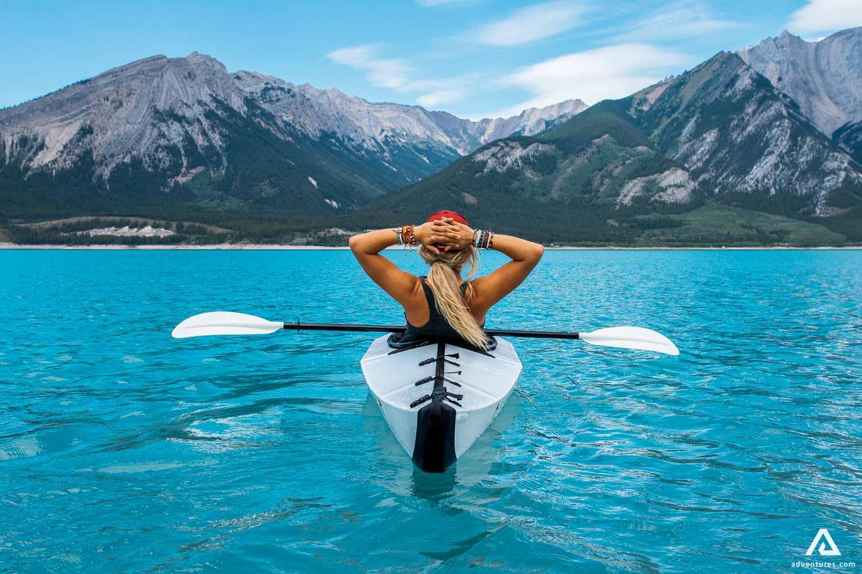 Girl Kayaking in Canada
