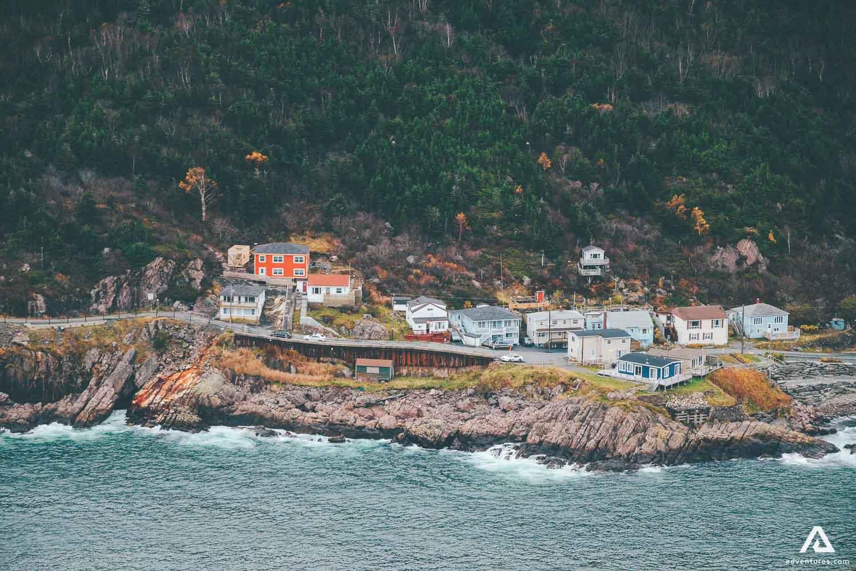 Town on a coastline