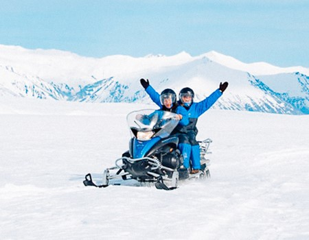 Snowmobile Tour in Iceland on Vatnajökull Glacier