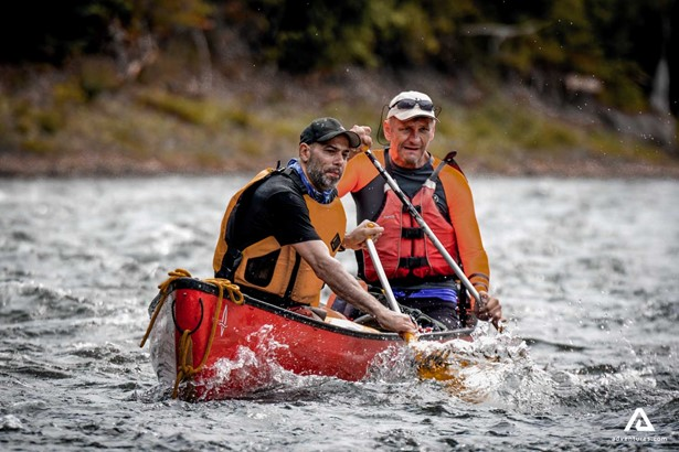Men Canoeing in Canada