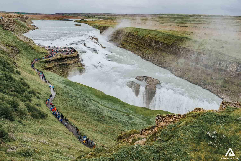 Gullfoss Waterfall on Golden Circle