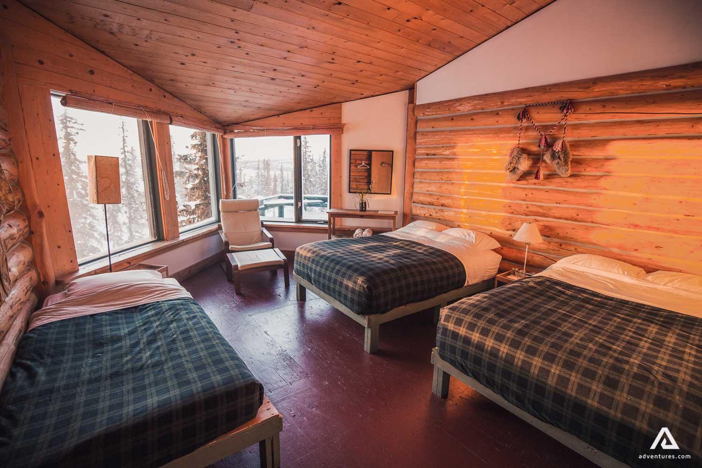 Cozy wooden lodge