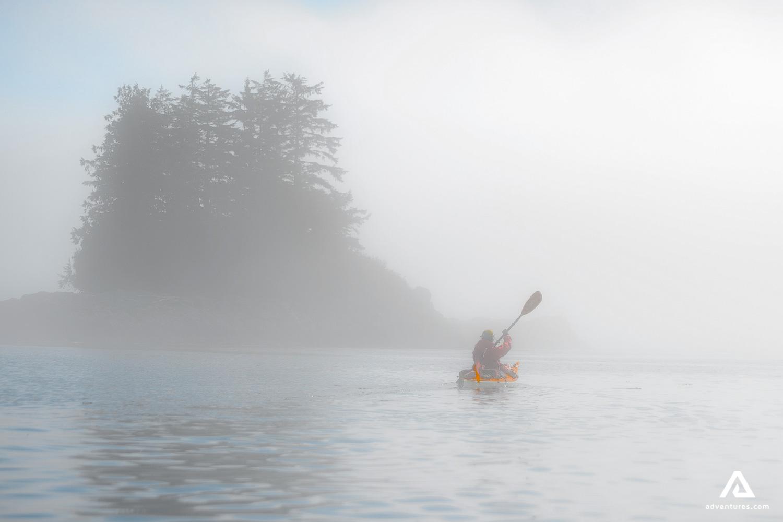 Kayaking in the Fog