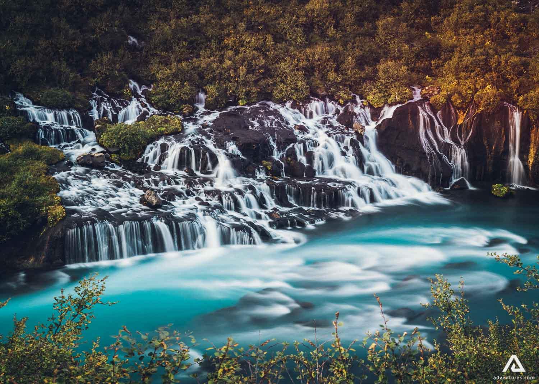 Waterfalls of Hraunfossar
