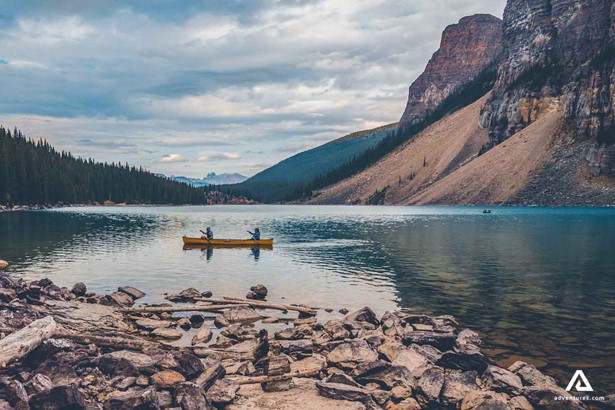 Canoeing on the Lake in Canada