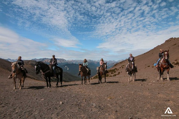 Horseback Riding over Canadian Mountains