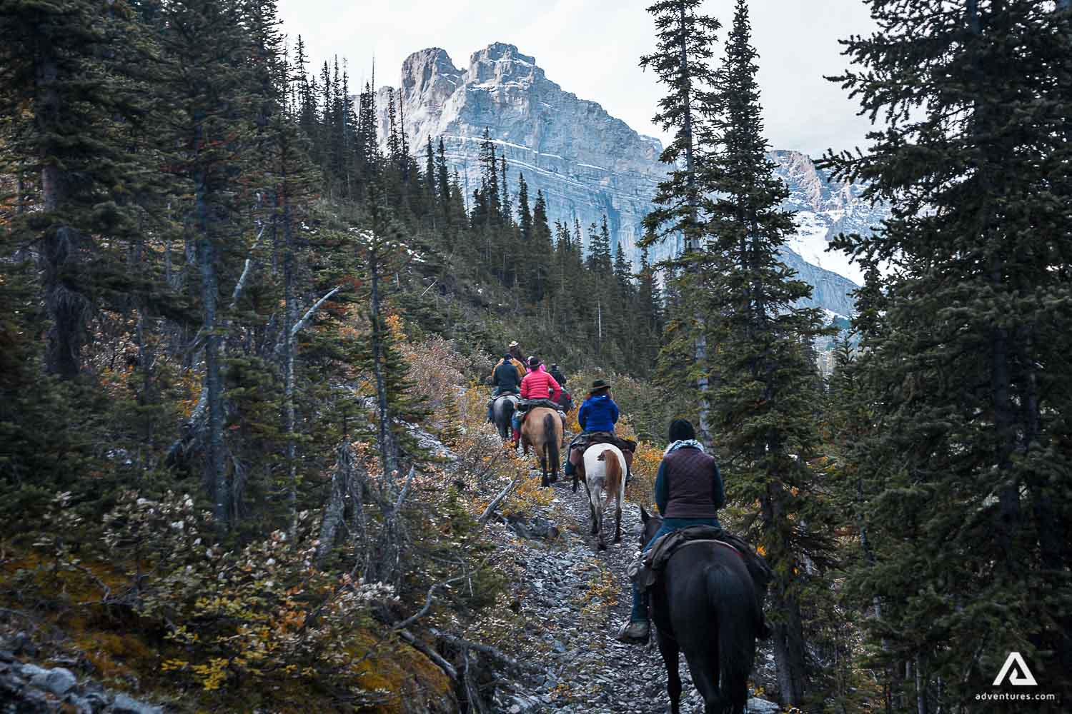 Uphill horse riding