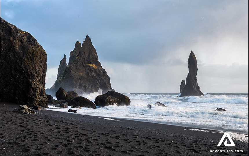 Reynisfjara shore, near the village Vík is known to be the most impressive black sand beach in Iceland, located on Iceland's South Coast.