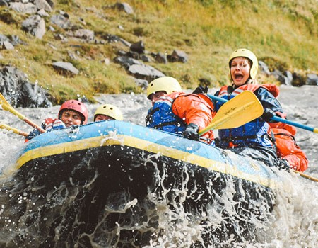 Family Rafting Tour on the West Glacial River in Northwest Iceland