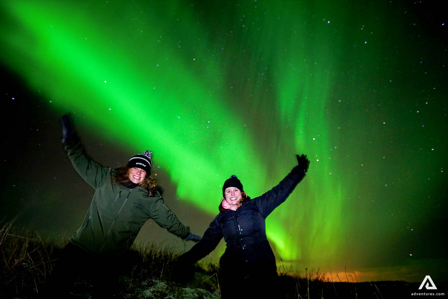 Northern Lights scenery on Golden Circle