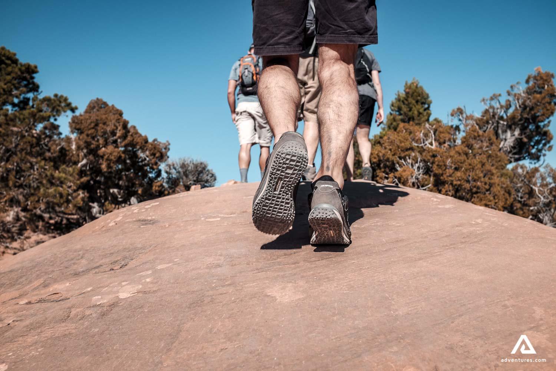 Man hiker legs