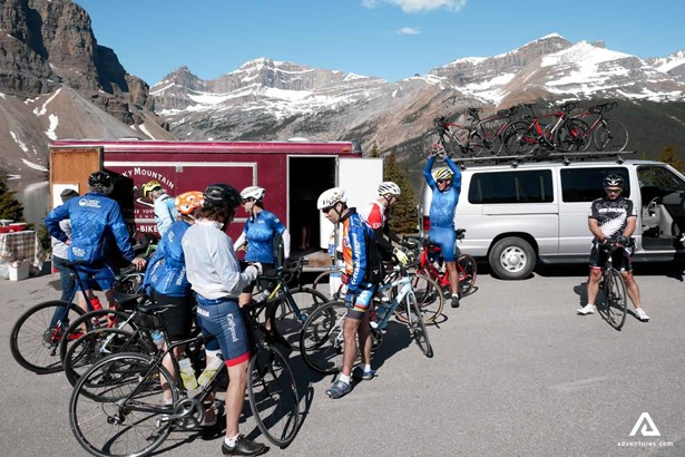 Cycling tour in the Rocky Mountains