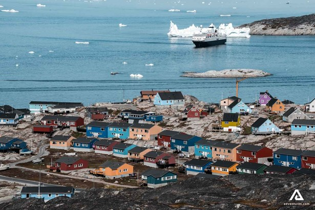 Coast Harbour Sea in Greenland
