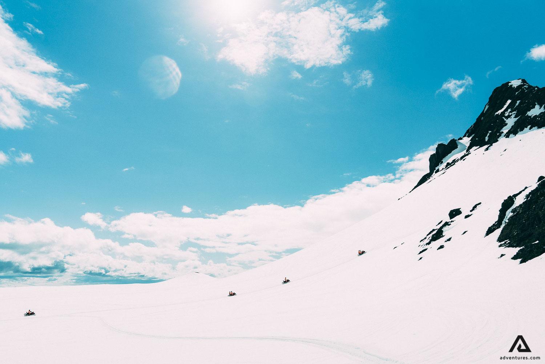 Snowmobiling on Langjokull