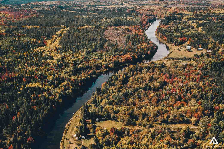 New Brunswick Lake from drone
