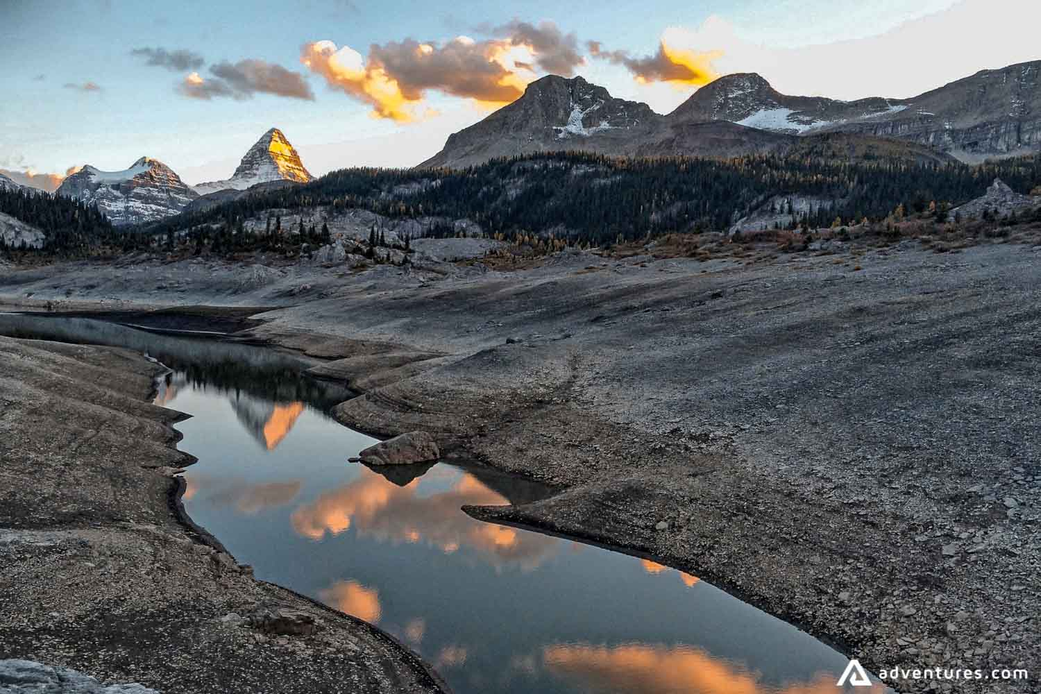 River with a view to Mt. Assiniboine