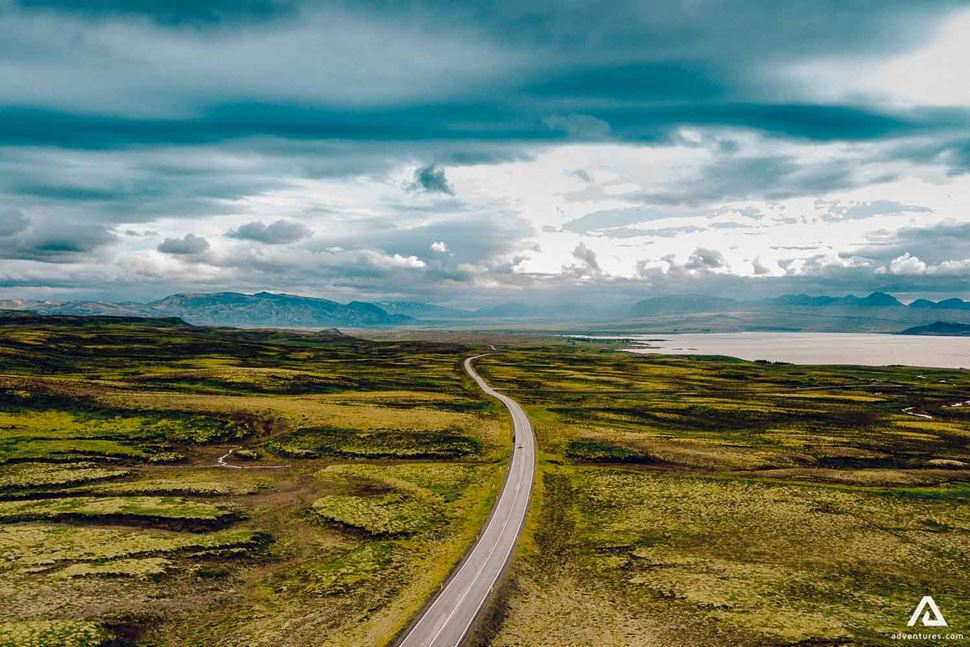 Road In Iceland On Ring Road Trip