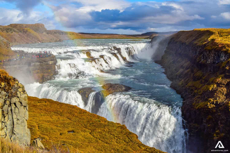 Gullfoss waterfall Nature Rainbow