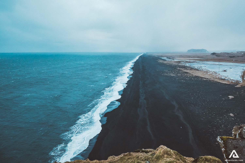 Dyrholaey Black Sand Beach Sky Sea
