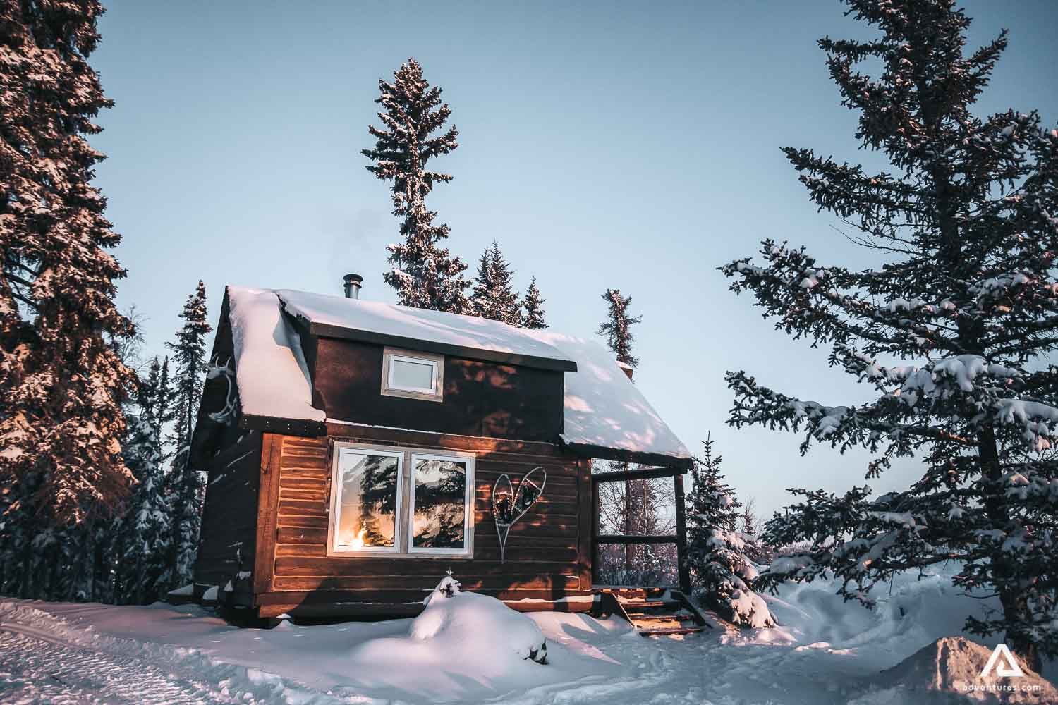 Beautiful lodge in the forest
