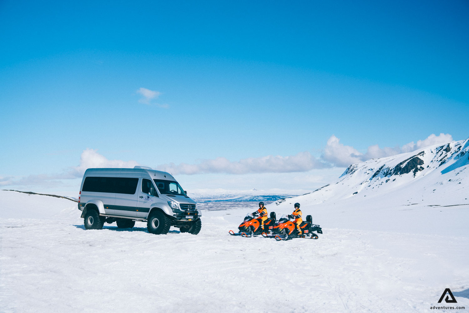 Snowmobiles and Super-Jeep