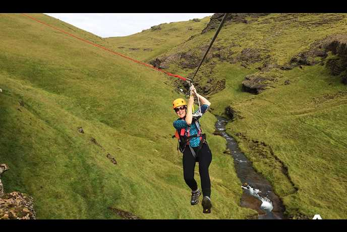 Zipline tour in south Iceland from Vik i Myrdal