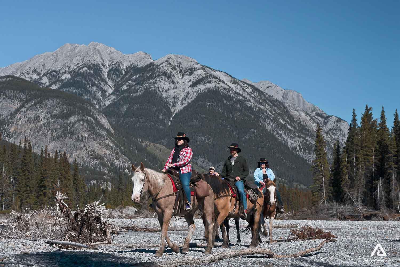 Horseback mountain riding