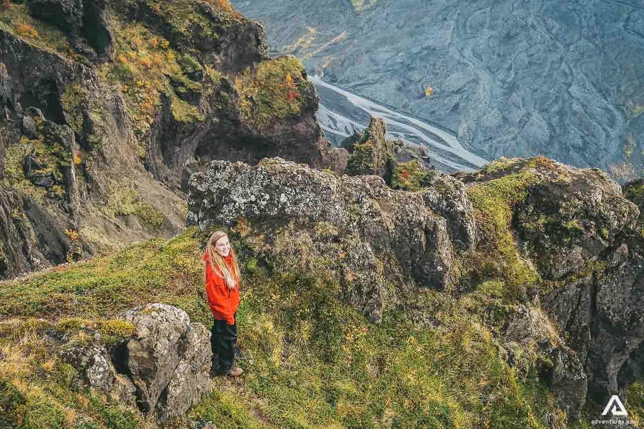 Girl on Thorsmork Hiking Tour