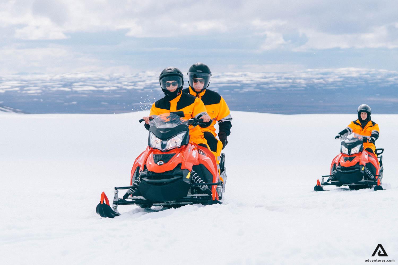 Glacier Snowmobiling day tour
