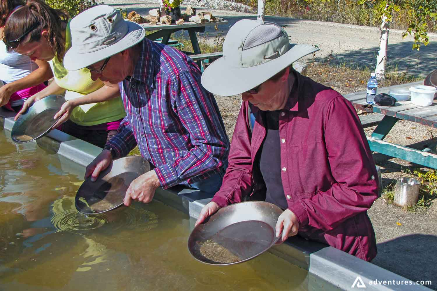 People searching for gold in Canada