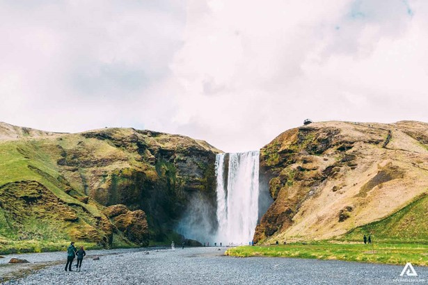 Waterfall in South-Iceland