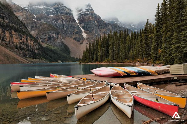 Canoes on the River Shore