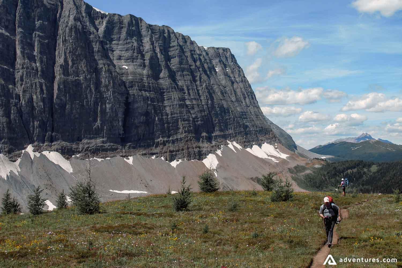 Backpacking road to the Rockwall of Kootenay