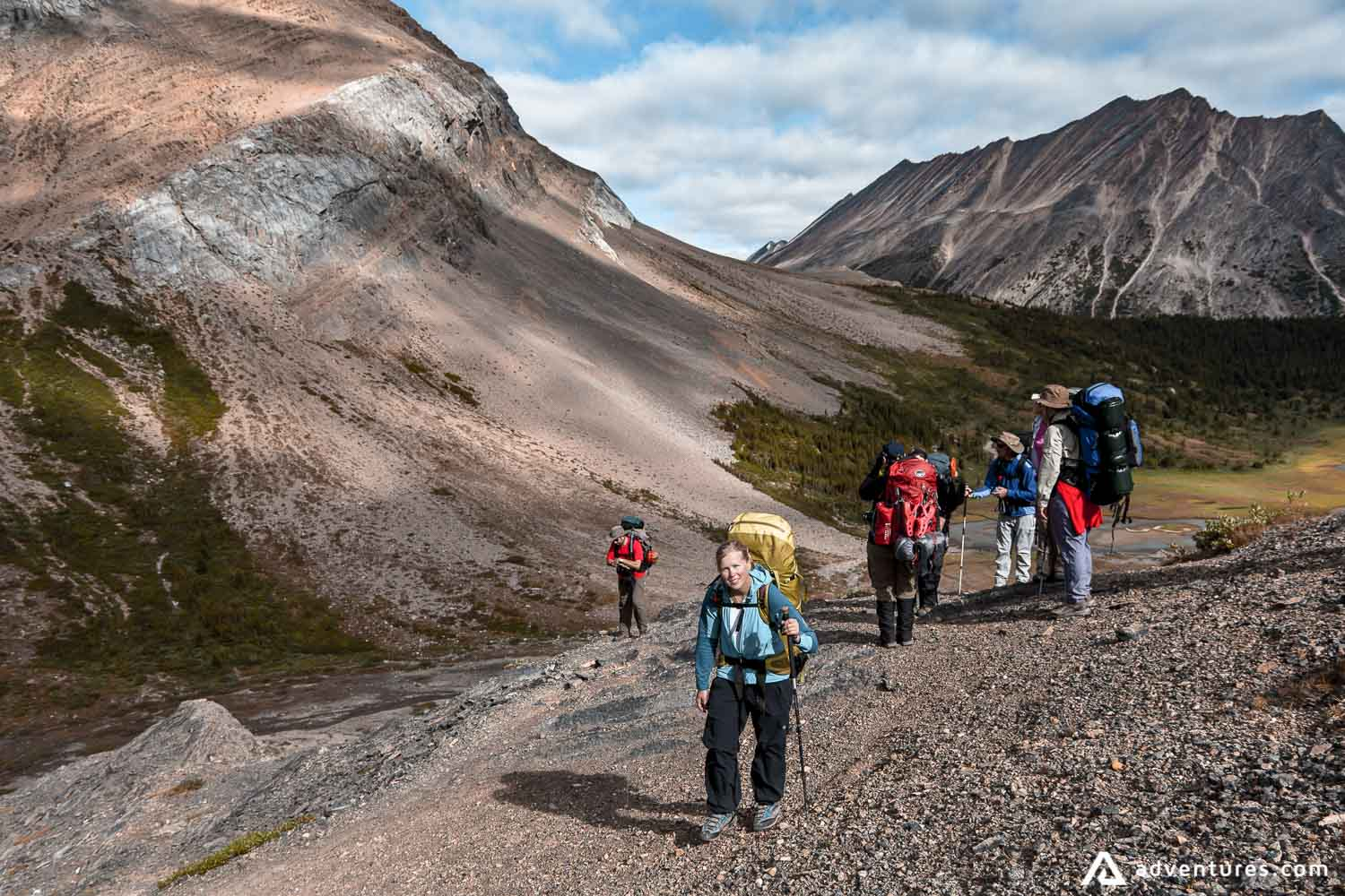 People on a highlands trail in Canada