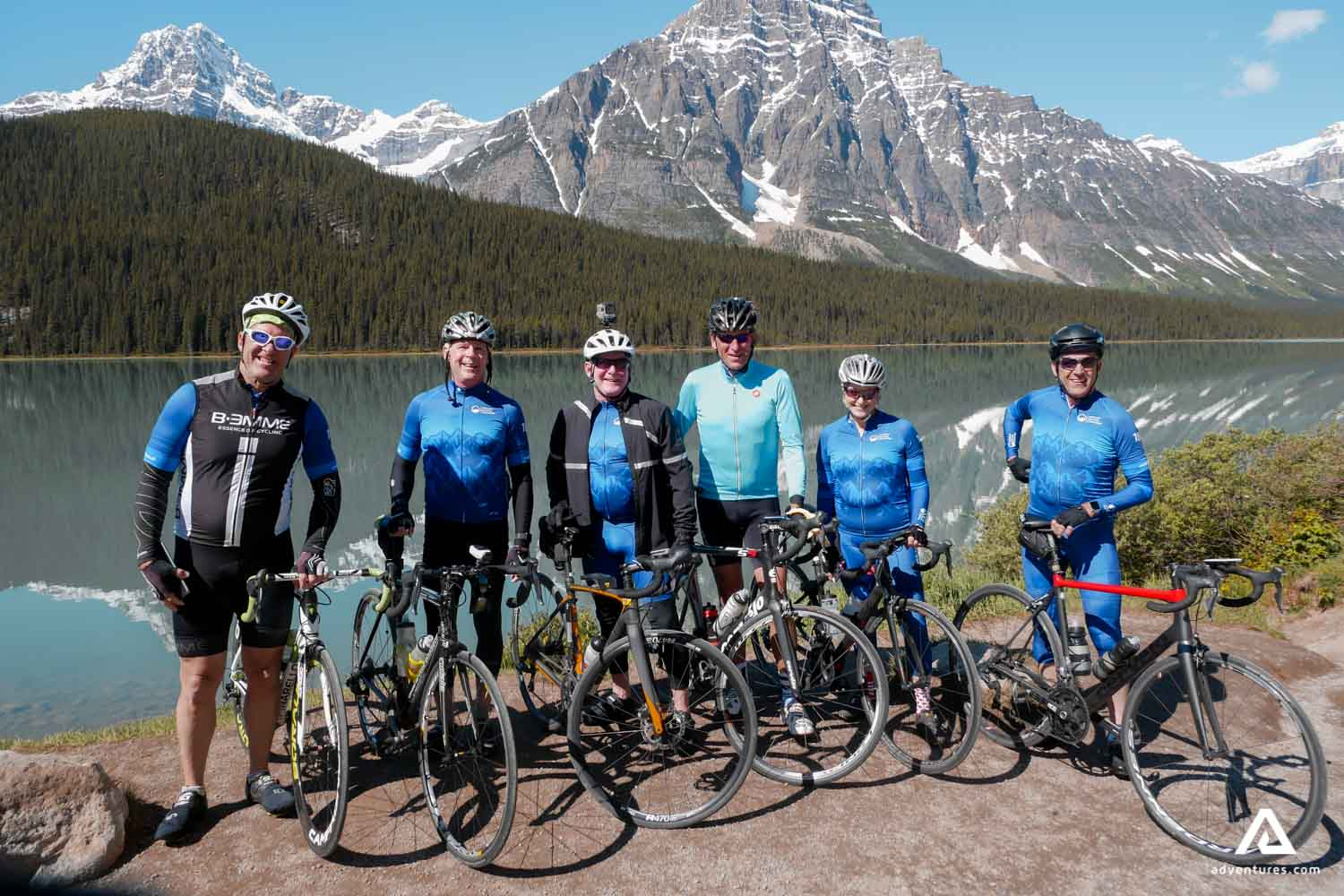 Bicycle tour in the Rockies